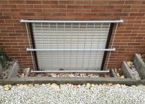 Fenstergitter, feuerverzinkt und pulverbeschichtet
