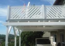 Stahlbalkon feuerverzinkt und weiß lackiert