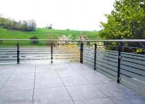 Balkon mit Edelstahlhandlauf - Schlosserei Schaaf