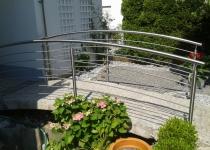 Gartenbrückengeländer aus Edelstahl