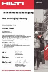 Hilti Befestigungstraining - Bensheim, 11.10.2013