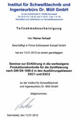 Institut für Schweißtechnik - Darmstadt, 13.1.2012